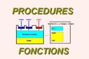 Les procédures et les fonctions
