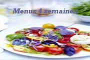 Quatre semaines de menus pour une bonne santé