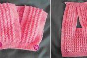 Tricoter un cache cœur bébé