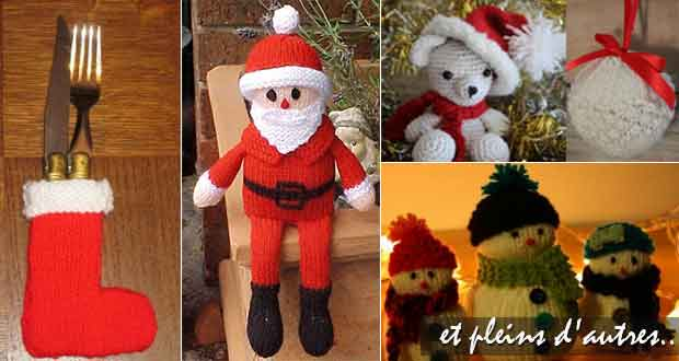 Déco de Noël au tricot ou crochet