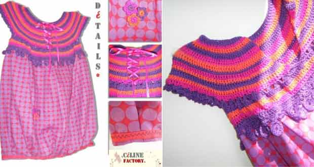 Encolure de robe en crochet