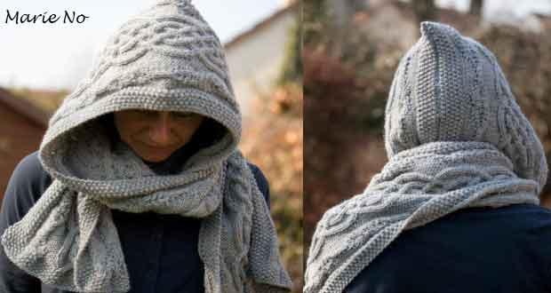 tuto echarpe capuche tricot gratuit