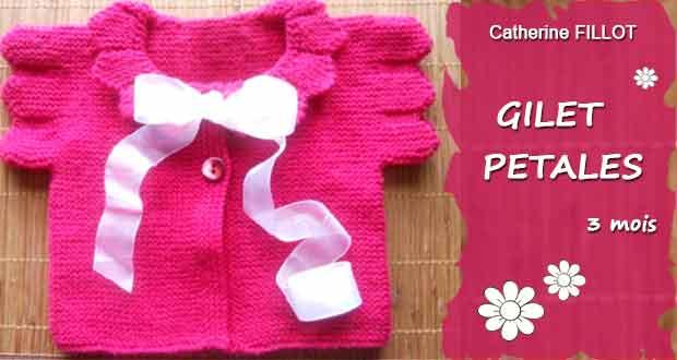 Gilet Pétale pour bébé 3 mois