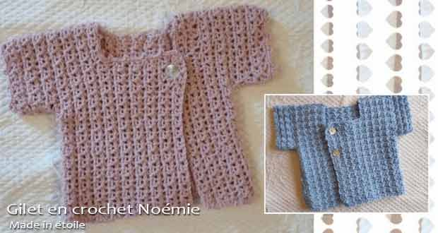 Gilet en crochet Noémie