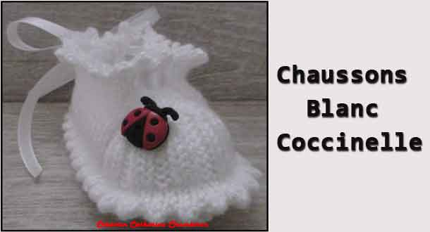 Chaussons blanc coccinelle