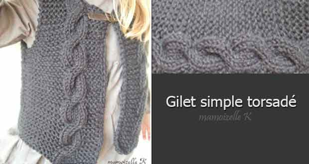 Gilet simple torsadé