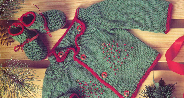 Cardigan et chaussons joyeux Noël