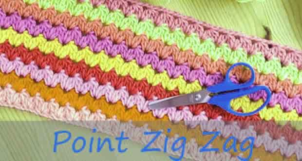 tricoter zig zag