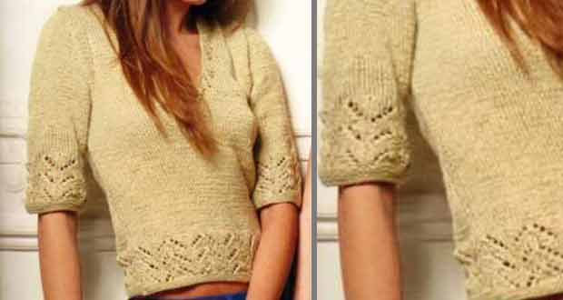 Pull bordure fantaisie